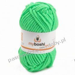 Włóczka MYBOSHI Nr1 wełna+akryl 50g k.184 Neongrun (zieleń neonowa) Koraliki i cekiny