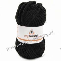 Włóczka MYBOSHI Nr1 wełna+akryl 50g k.196 schwarz (czarny) Przedmioty do ozdabiania