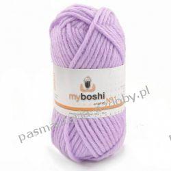 Włóczka MYBOSHI Nr1 wełna+akryl 50g k.161 candy purpur (jasny fiolet) Nici