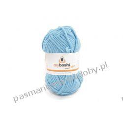 Włóczka MYBOSHI Nr1 wełna+akryl 50g k.150 wolke (błękit) Zamki i zapięcia