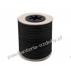 Sznur poliestrowy (techniczny) do koralików / do żaluzji Ø1,4mm - czarny Rzemyki i sznurek jubilerski
