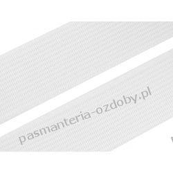 Guma gładka, tkana szer. 30mm biała 1m  Nici