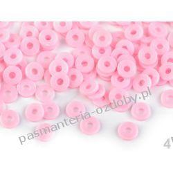 Koraliki Fimo krążki Ø6 mm - różowy Biżuteria - półprodukty