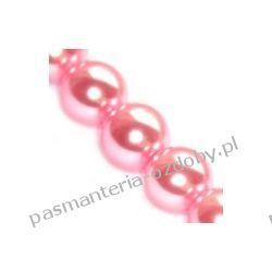 KORALIKI / PEREŁKI SZKLANE 6mm -sznur 80cm 145szt - różowy Biżuteria - półprodukty