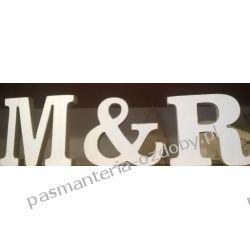 LITERY wys. 9,5 cm / gr. 12 mm (do wyboru z całego alfabetu) Ślub i wesele