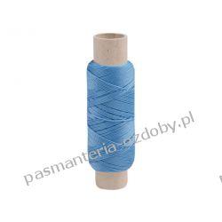 Nici poliestrowe 14x2x3 50m szewskie RIBBON błękit Włóczki