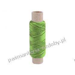 Nici poliestrowe 14x2x3 50m szewskie RIBBON zielony Włóczki