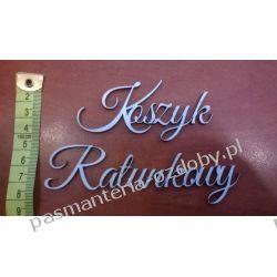 Napis Koszyk  Ratunkowy  (sklejka) wys. 3,5 cm Ślub i wesele