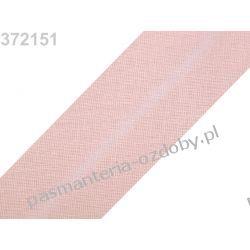 Lamówka skośna bawełniana szerokość 30mm - jasny róż Taśmy i tasiemki