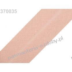 Lamówka skośna bawełniana szerokość 30mm - łososiowy Akrylowe