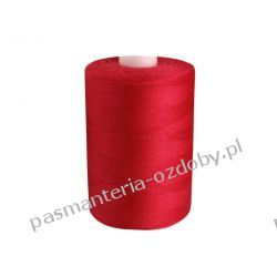 Nici poliestrowe, nawój 1000m PES 40/2 - czerwony Drewniane