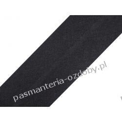Lamówka skośna bawełniana szerokość 30mm - czarna Taśmy i tasiemki