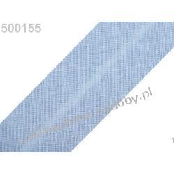 Lamówka skośna bawełniana szerokość 30mm - błękitna