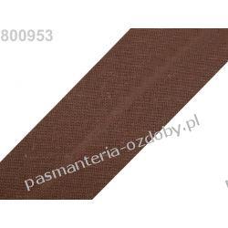 Lamówka skośna bawełniana szerokość 30mm - brązowa Taśmy i tasiemki