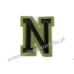 Naprasowanka - litera N Igły, szpilki i agrafki