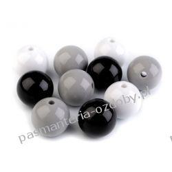 KORALIKI / PEREŁKI Ø20 mm - mix (czarny, szary, biały) Rękodzieło