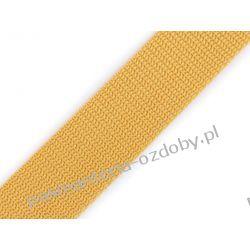 TAŚMA PARCIANA, NOŚNA 30mm (do toreb itp) 1m - musztardowa Aplikacje