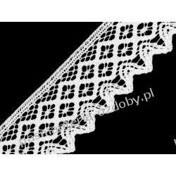 KORONKA KLOCKOWA  bawełniana szer. 68 mm - biała Koronki i hafty