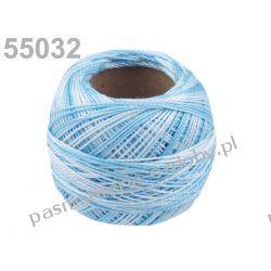 KORDONEK nici Perlovka OMBRE NITARNA 60x2 10g/85m - 55032 cieniowany błękitny Rękodzieło