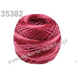 KORDONEK nici Perlovka OMBRE NITARNA 60x2 10g/85m - 35382 cieniowany bordowo-różowy Włóczki