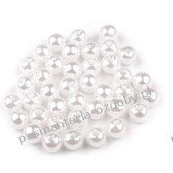 KORALIKI / PEREŁKI 6 mm - białe Biżuteria - półprodukty