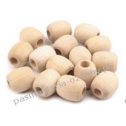 Koraliki drewniane nielakierowane owal 18x20 mm Rękodzieło