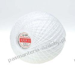 KORDONEK nici KAJA 15 ARIADNA 50x3 30g/200m - biały (400) Rękodzieło