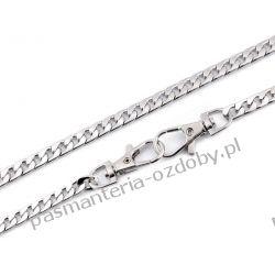Łańcuszek płaski do torebki z zapięciem 120cm - kolor srebrny Biżuteria - półprodukty