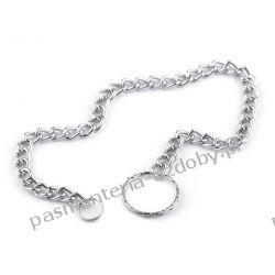 Łańcuszek na klucze 32cm - kolor srebrny Biżuteria - półprodukty