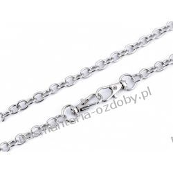 Łańcuszek do torebek z zapięciem (długość 120 cm) - kolor srebrny Filcowanie