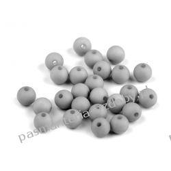 Koraliki plastikowe matowe Ø8 mm - szary Rękodzieło