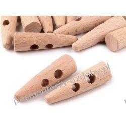Guzik drewniany - róg 50mm Rękodzieło