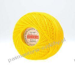 KORDONEK nici Muza 10 kol. 1401 (żółty) Koraliki i cekiny