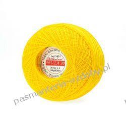 KORDONEK nici Muza 20 - kol. 1401 (żółty) Drewniane
