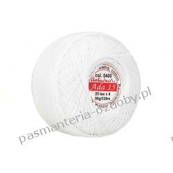 KORDONEK nici Ada 5 - kol. 0400 (biały) Włóczki