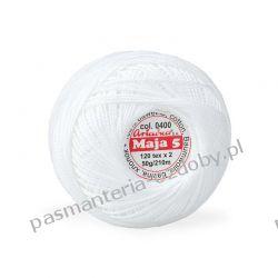 KORDONEK nici Maja 5 - kol. 0400 (biały) Crackle