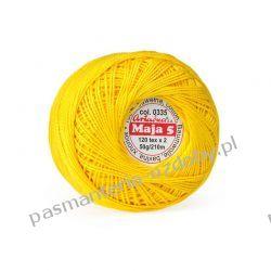 KORDONEK nici Maja 5 - kol. 335 (żółty) Crackle