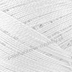 KORDONEK nici Maja 8 - kol. 400 (biały) Rękodzieło
