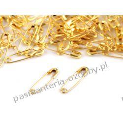 AGRAFKI 20 mm - 100 szt - kolor złoty Akrylowe