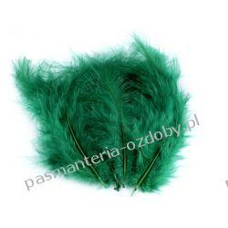 PIÓRA / PIÓRKA Strusie 9-16cm - 20szt - zielony butelkowy Akrylowe