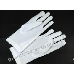 RĘKAWICE WIZYTOWE MĘSKIE białe elastyczne Przebrania, kostiumy, maski