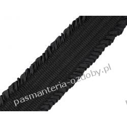 Guma plisowana 48mm czarna Rękodzieło
