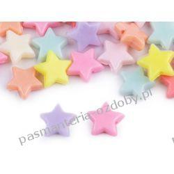 Koraliki plastikowe gwiazdka Zamki i zapięcia