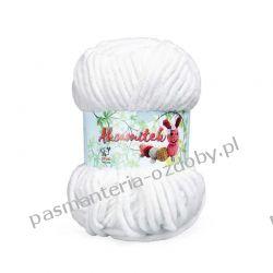 Włóczka Aksamitek - 50g - biały (150) Szycie i dziewiarstwo