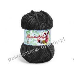 Włóczka Aksamitek - 50g - czarny (30) Rękodzieło