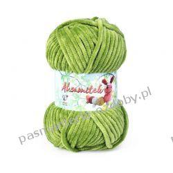 Włóczka Aksamitek - 50g - zielony (122) Szycie i dziewiarstwo