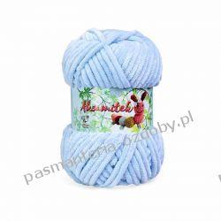 Włóczka Aksamitek - 50g - niebieski (9) Rękodzieło
