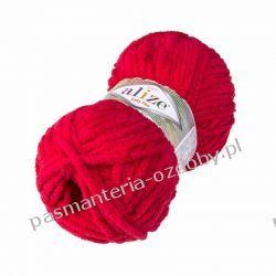 Włóczka Alize Softy Plus - 100g - czerwony (56) Szycie i dziewiarstwo