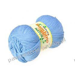 Włóczka Bambino - antypiling - 100g - niebieski (09) Szycie i dziewiarstwo