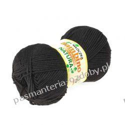 Włóczka Bambino - antypiling - 100g - czarny (30) Szklane zwykłe